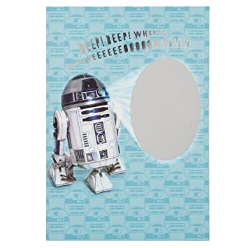 Star wars r2-d2 scratch & reveal secret message birthday card