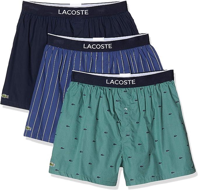 Lacoste Hommes Pack de 3 slips Multicolore