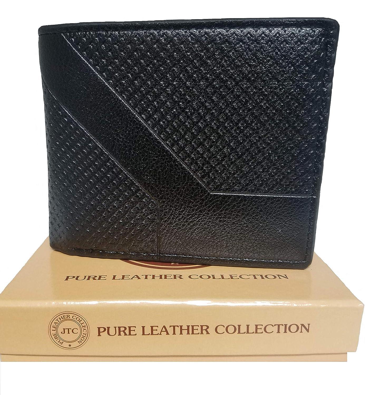 Mens Bifold Leather Wallet ID Window Credit Card Holder Wallet