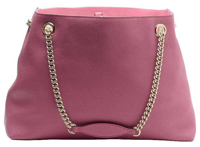 4c57aaa46 Amazon.com: Gucci Soho Large Leather Chain Shoulder Handbag Pink BHFO 0213:  Shoes