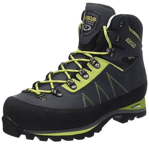 Asolo Lagazuoi GV mm, Stivali da Escursionismo Alti Uomo, Vert (Blue Navy/Verde Lime A673), 41 1/3 EU