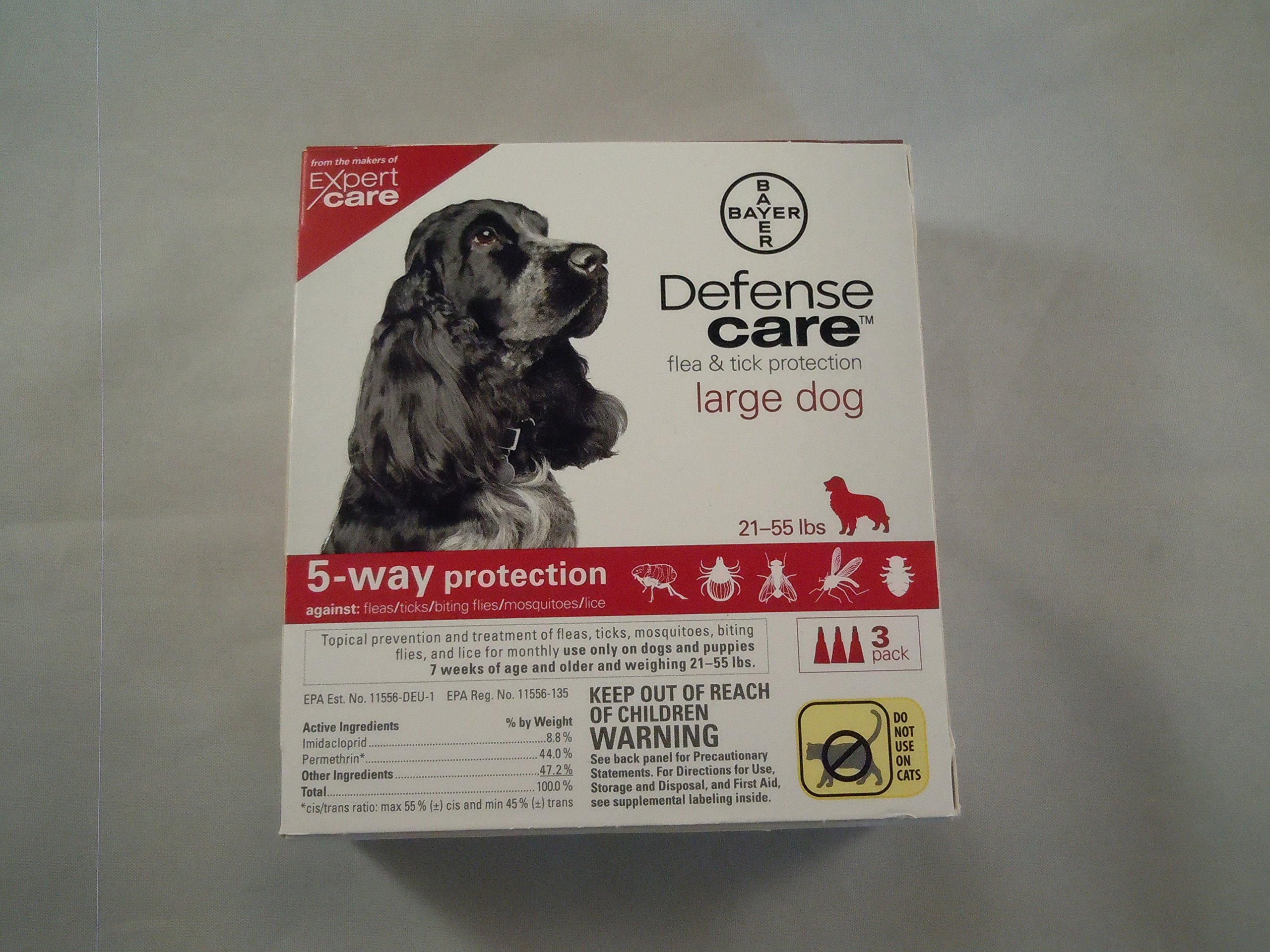 Flea & Tick Protection for Large Dog by Defense Care