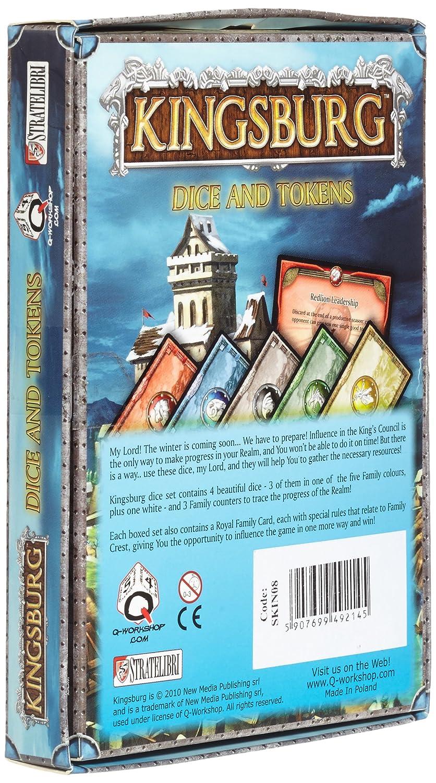 Amazon Com Q Workshop Dice Set Kingsburg Dice D And Tokens Blue Toys Games