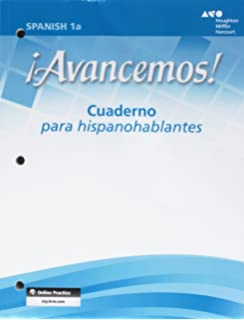 Avancemos level 1a mcdougal littell 9780618611027 amazon books avancemos cuaderno para hispanohablantes student workbook with review bookmarks level 1a fandeluxe Gallery