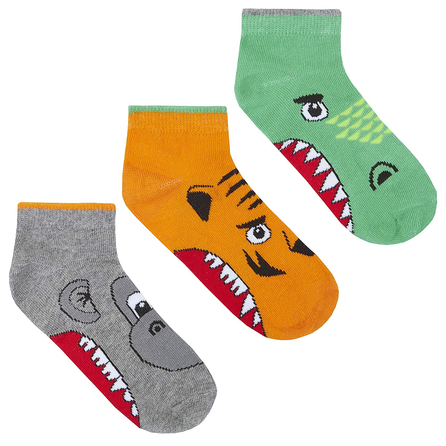 Boys 3 Pk Novelty Cotton Rich Socks