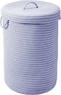 """product image for Colonial Mills Simply Home w/lid Hamper, 16""""x16""""x24"""", Amethyst"""