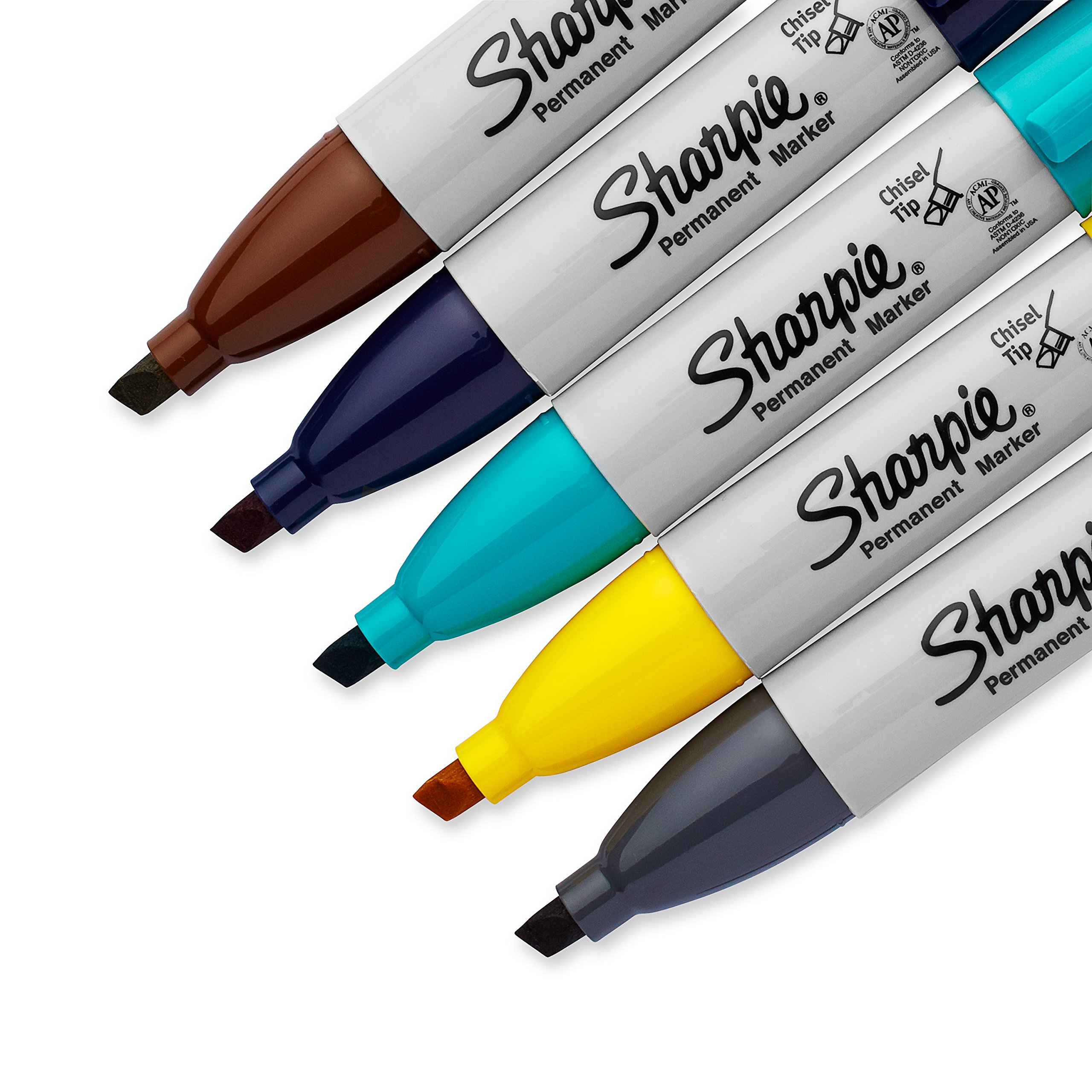 Sharpie Permanent Markers, Broad, Chisel Tip, 5-Pack, Assorted 2015 Colors (1927321) by Sharpie (Image #4)