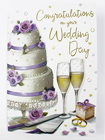 Congratulations On Your Wedding Day.Congratulations On Your Wedding Day Greeting Card Quality Large