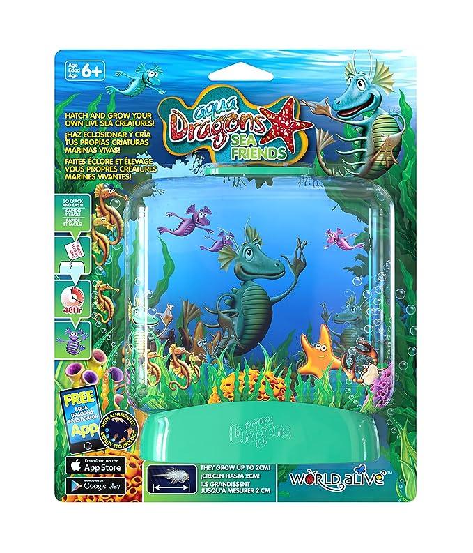 Aqua Dragons Amigos Marinos Juguete Educativo Color versión en Verde, Rosa, Lila, Amarillo, Turquesa World Alive 4016: Amazon.es: Juguetes y juegos