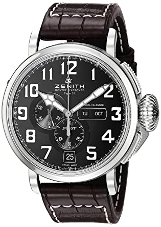 d500630db7b Zenith Men s 0324304054.21C Pilot Analog Display Swiss Automatic Brown Watch