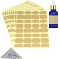 Wisdompro Assorted Shape Stickers Labels for Essential Oil Bottle and Food Jars - 8 Sheet (256Pcs) - Small