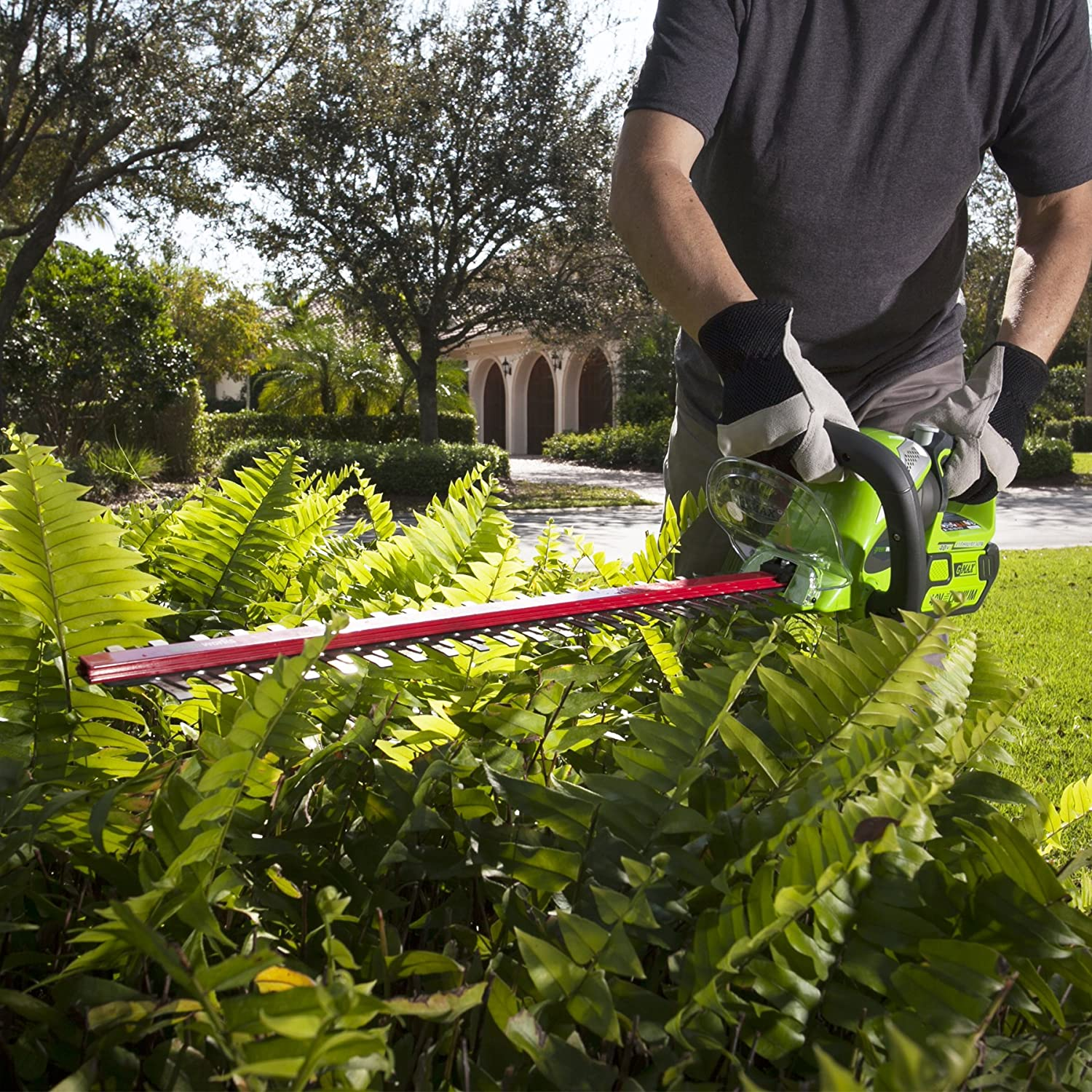 Greenworks 24-Inch 40V Cordless Hedge Trimmer, Battery and Charger Not Included