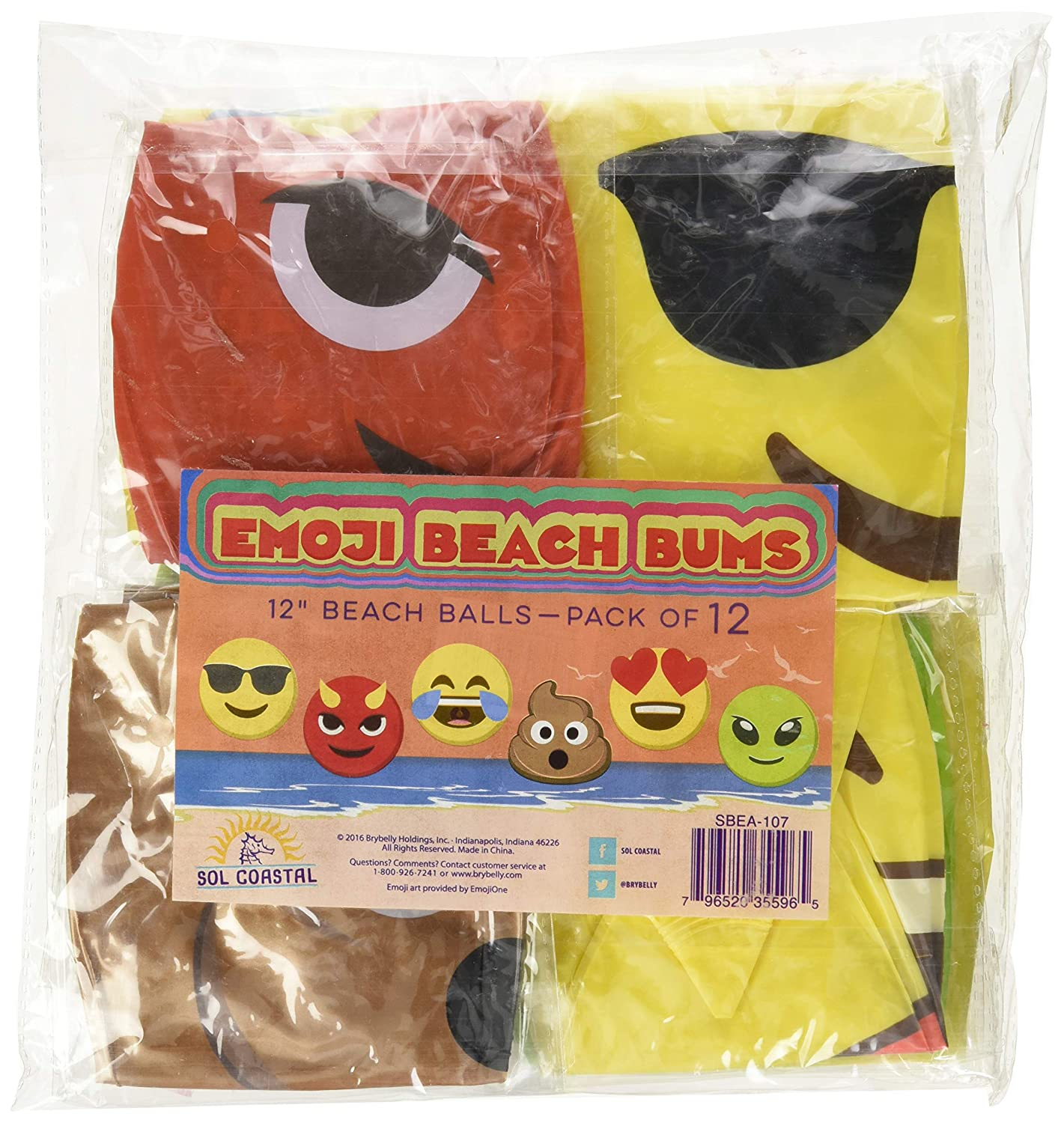 Beach Ball Set with Emoji Faces: Unique Pool & Birthday Party Gifts or  Favors for Kids & Teens: 6 Funny Emojies -- Choose Your Size!
