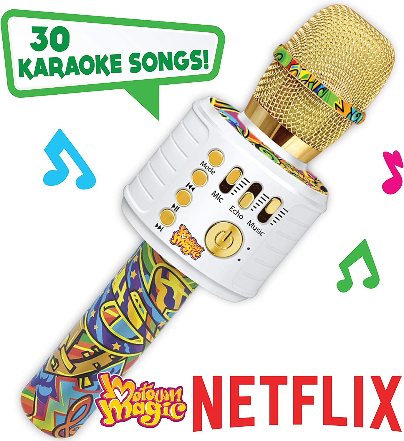 Motown Magic Bluetooth Karaoke Microphone Perfect Christmas Gifts for Kids