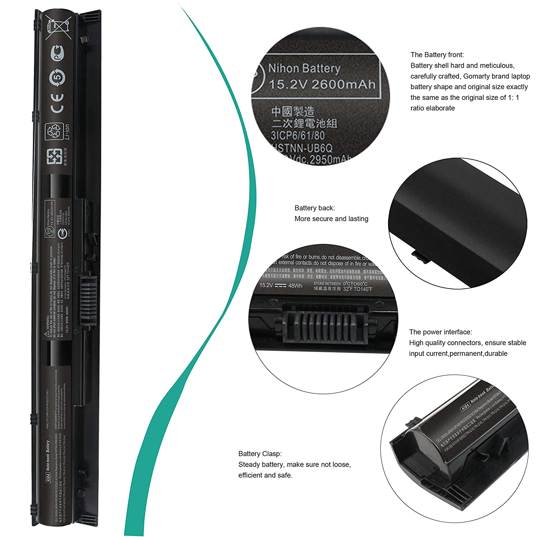 SUNMAL Gomarty KI04 Laptop Battery for HP Pavilion 14-ab006TU 15-ab000  15-ab038TX HSTNN-LB6S HSTNN-LB6T HSTNN-LB6R 800049-001 800009-241  800010-421