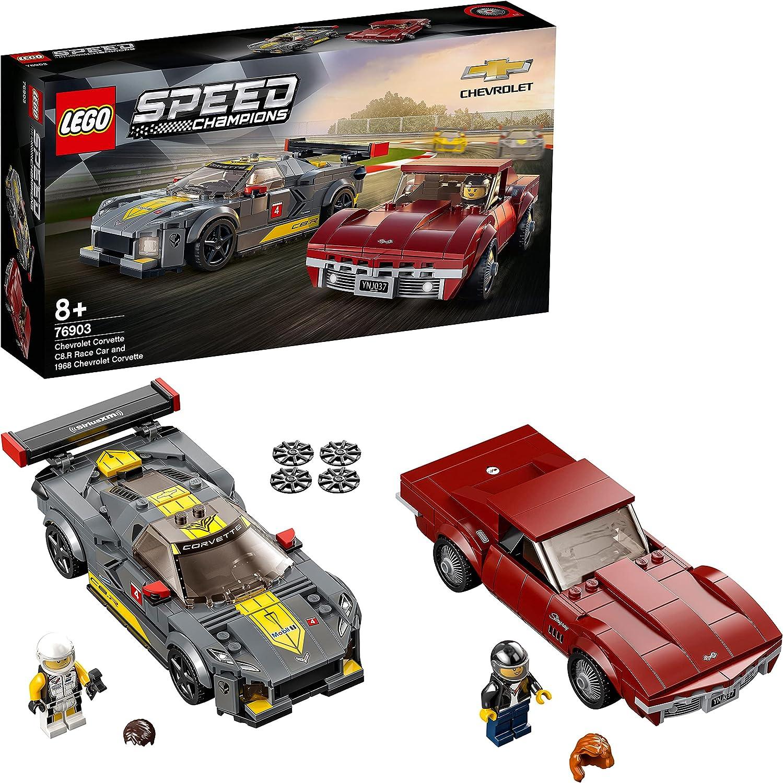 レゴ(LEGO) スピードチャンピオン シボレー コルベット C8.R レースカー & 1968 シボレー コルベット 76903