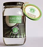 Organic Extra Virgin Coconut Oil 350 grms glass bottle ( Cold Pressed )