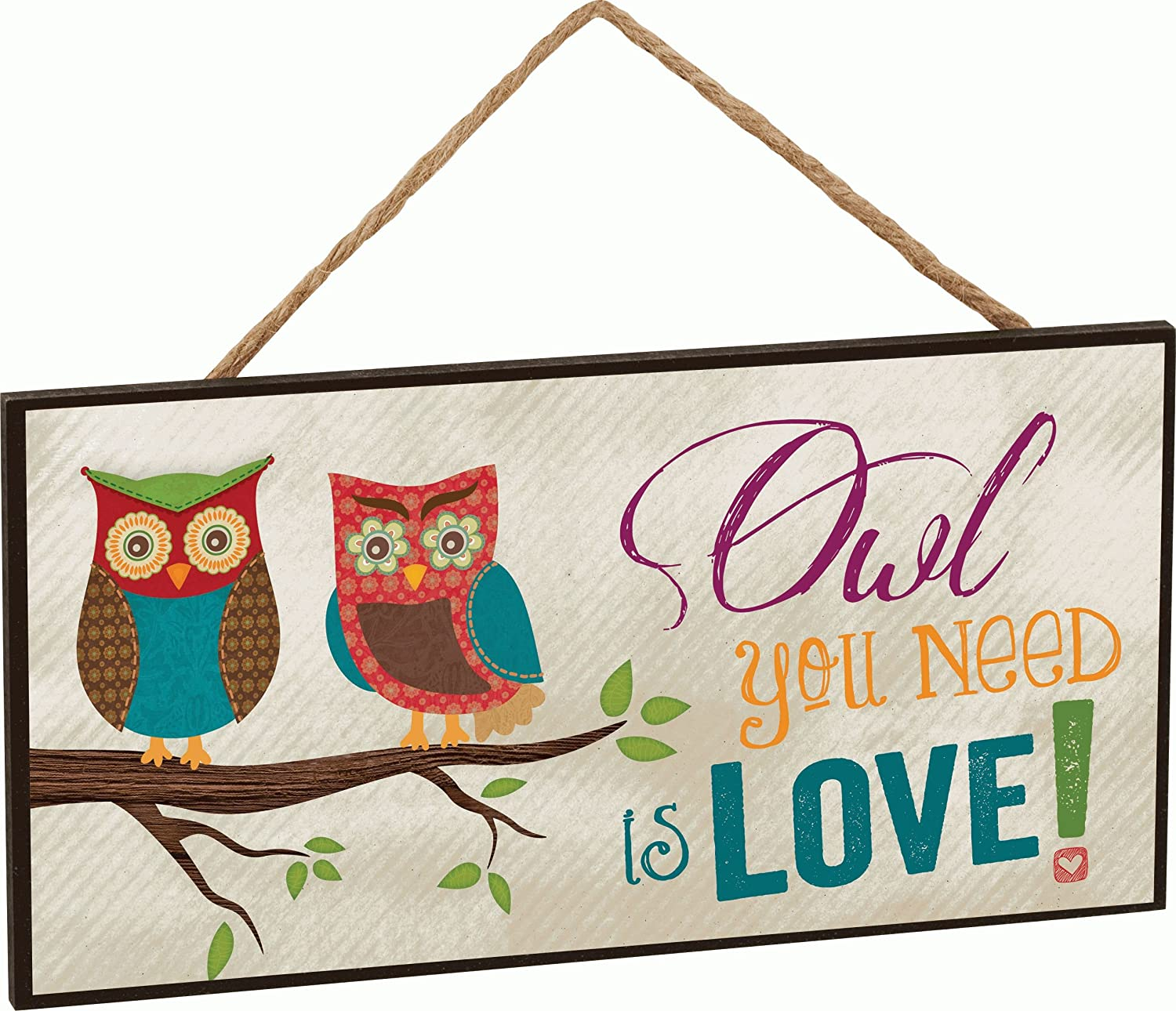 owl you need is love two owls on branch decorative