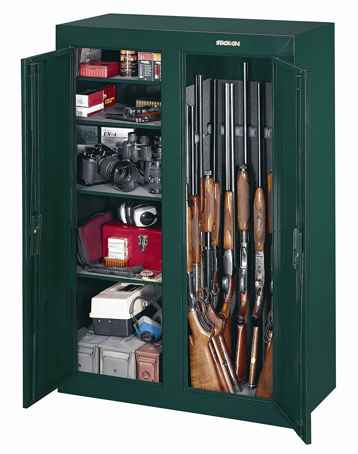Fresh Stack On 10 Gun Double Door Cabinet