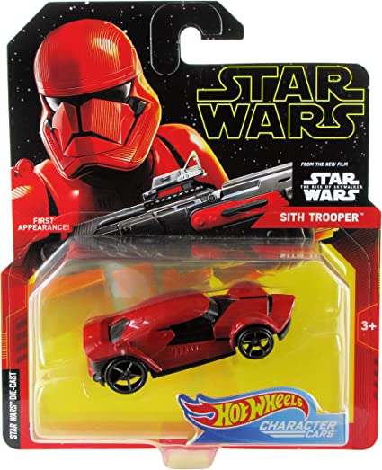 Amazon Com Hot Wheels Star Wars Character Cars Sith Trooper Toys Games