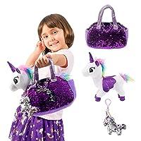 Little Jupiter Plush Pet Set with Purse - Unicorn Toys - Unicorn Stuffed Animal...