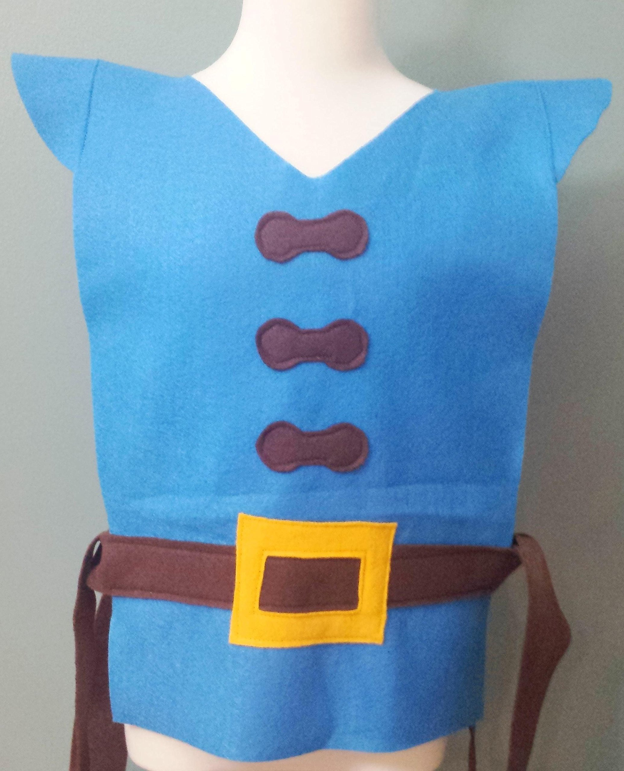 Kids Flynn Rider Costume Tunic (Tangled/Rapunzel)- Baby/Toddler/Kids/Teen/Adult Sizes