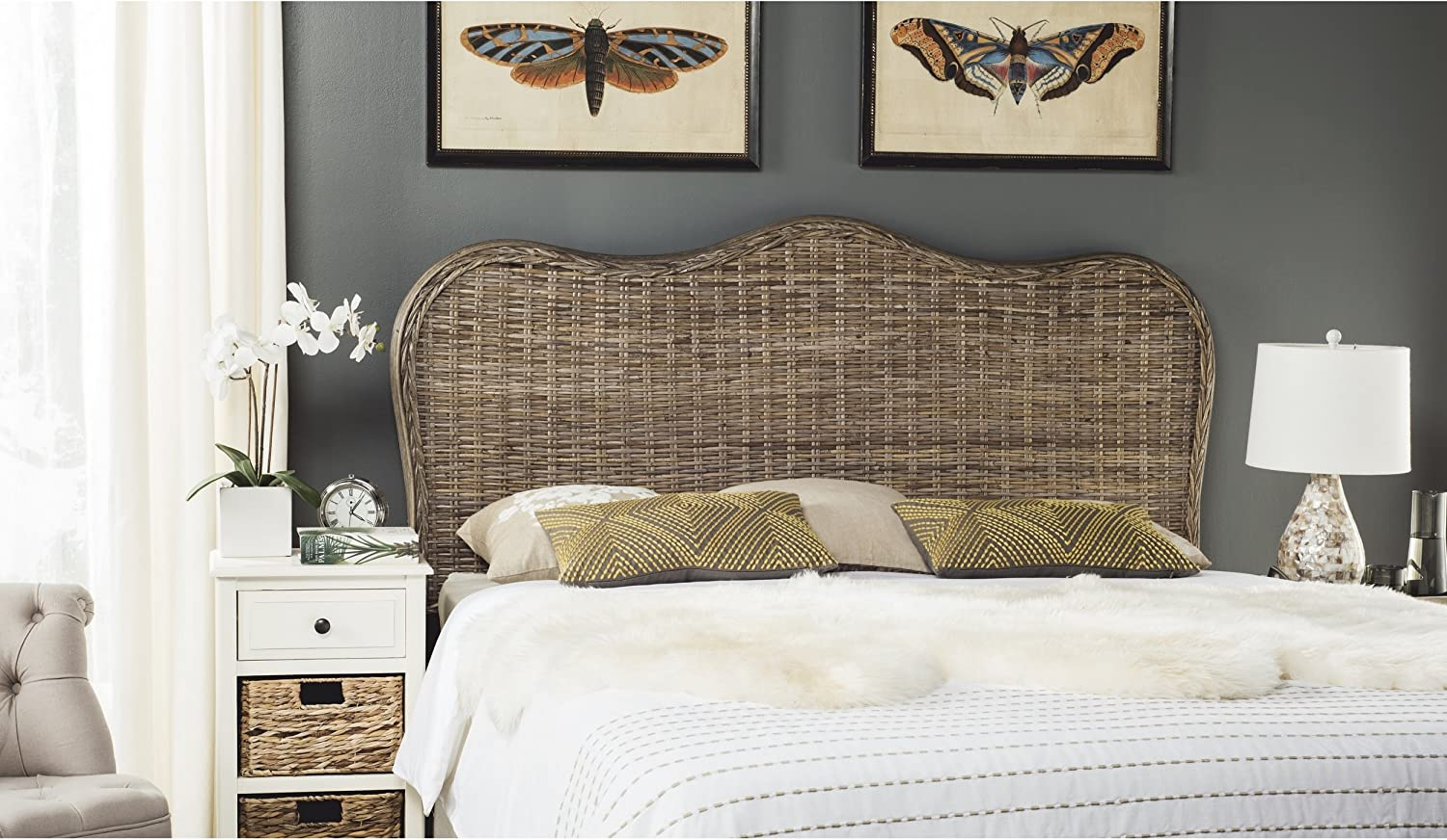 Safavieh Home Collection Imelda Grey Headboard Queen