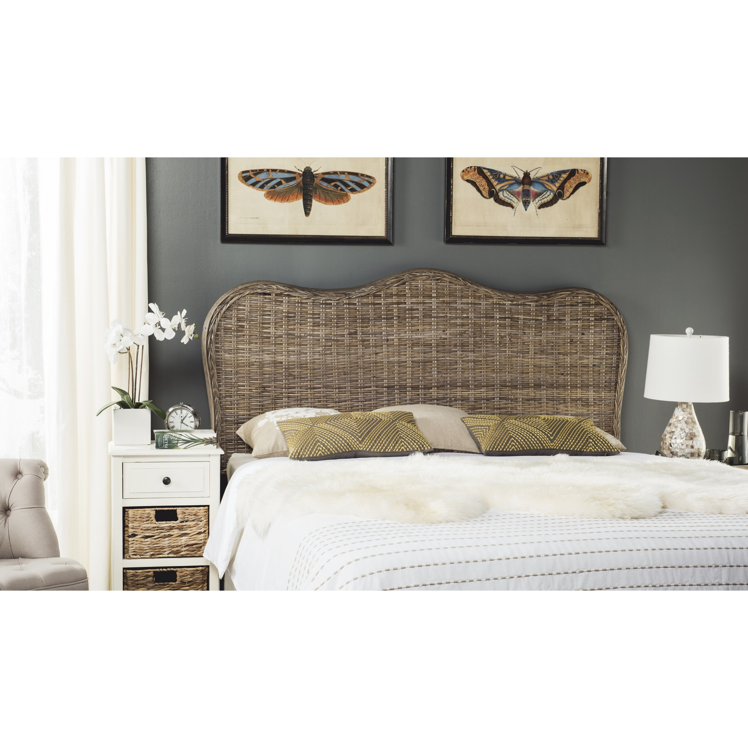 Safavieh Home Collection Imelda Grey Headboard (Queen)