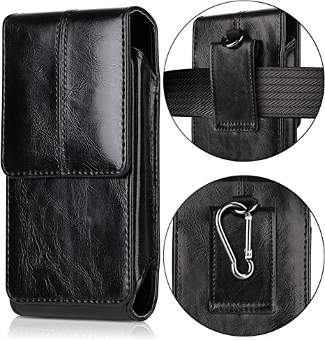 iNNEXT For iphone 11 Pro Belt Pouch Holster Fits for 5.5inch Phone Extra Large Leather Horizontal Cellphone Carrying Pouch Belt Waist Bags with Belt Clip//Magnetic Closure