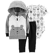 Carter's Baby Boys` 3-Piece Little Jacket Set (3 Months, Bear/Animal Print)