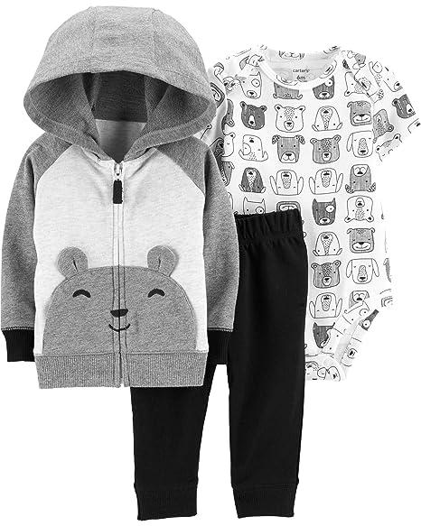 Amazon.com: Del Carter bebé Boys 3 piezas chaqueta de punto ...