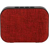 Live Tech Portable Yoga Bluetooth Wireless Speaker with Micro SD/AUX/Mic (Red)