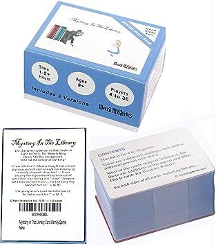 Caja de Juego de Cartas Mystery in The Library para 8 a 30 ...