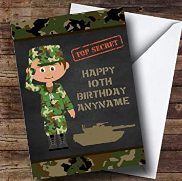 Green boy camo army personalised childrens birthday card amazon green boy camo army personalised childrens birthday card bookmarktalkfo Choice Image