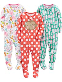 89d5c07386 Simple Joys by Carter s Baby and Toddler Girls  3-Pack Snug Fit Footed  Cotton