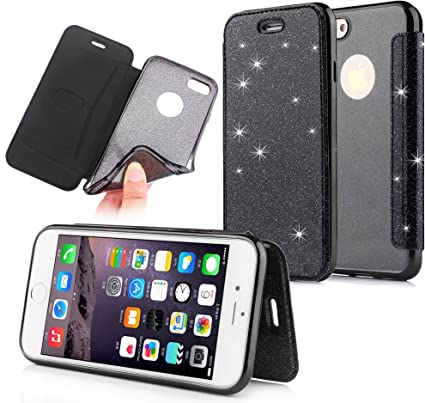 Tifightgo Cover Glitter iPhone 7 Plus/8 Plus, Custodia in Pelle ...