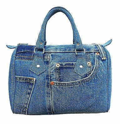 aa95745ee Bijoux De Ja Classic Blue Denim Jean Doctor Style Women Handbag (LL-04):  Handbags: Amazon.com