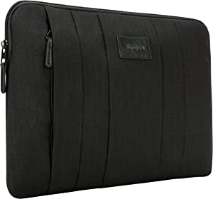 Targus CitySmart Business Professional Laptop Sleeve Case Simple Design with Water Resistant Nylon, Front Accessory Pocket, Protective Slipcase fits 13.3-Inch Laptop, Black (TSS626US)