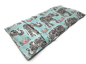 Large or X Large Microwavable Flax Heating Pad Made in the U.S.A by Flax Sak. Hot and Cold Therapy. Comes with Removable and Washable Cover | FS