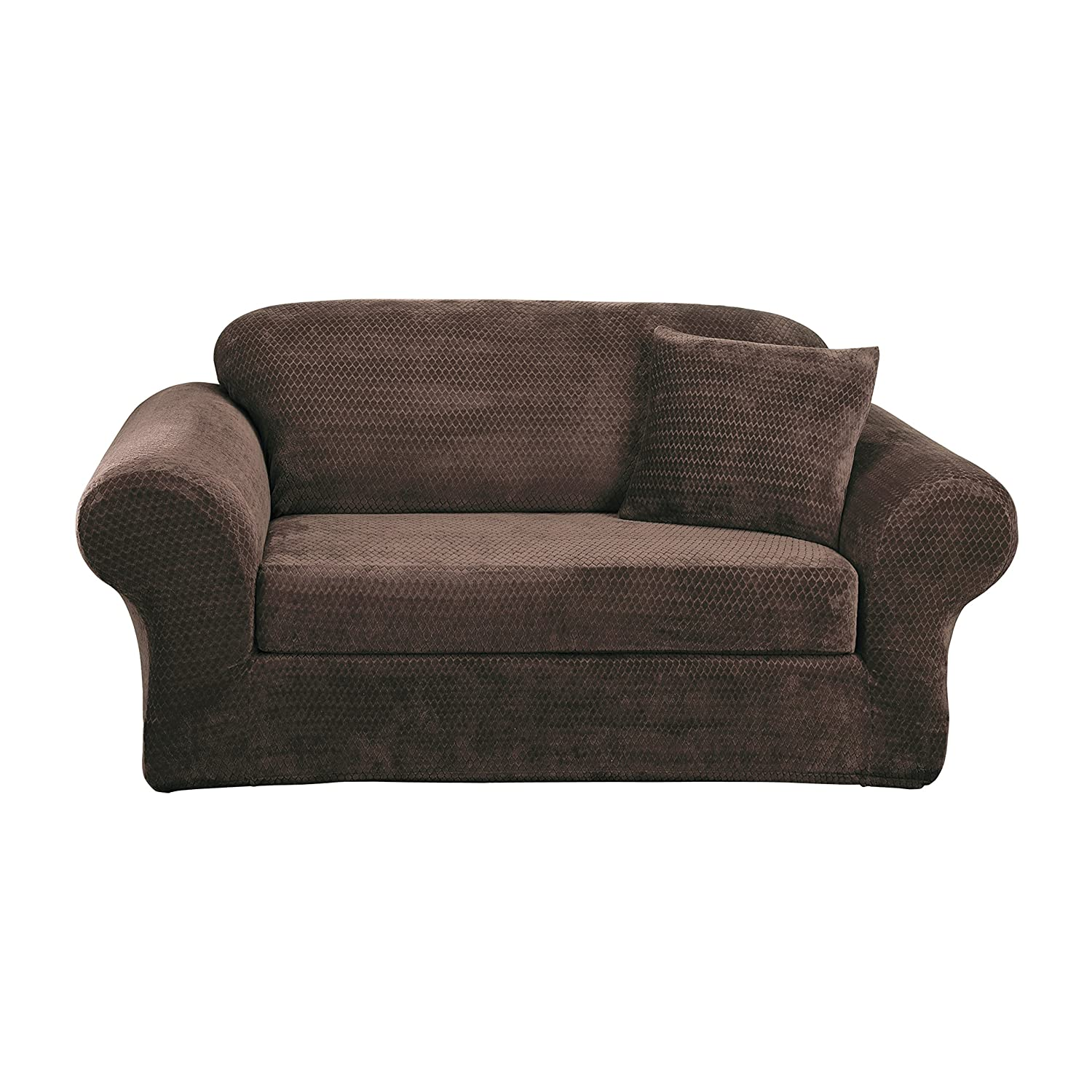 Amazon Sure Fit Stretch Royal Diamond 2 Piece Loveseat