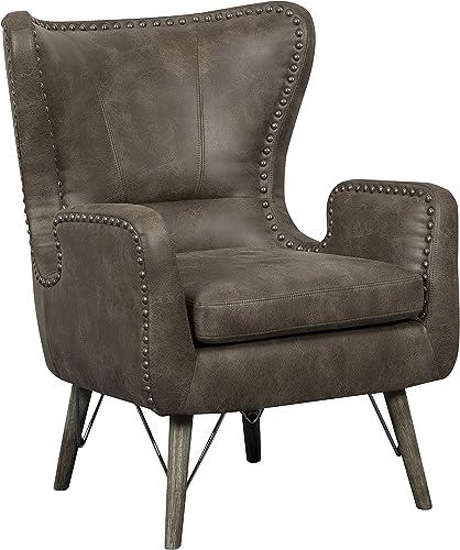 Pulaski Shelter Nailhead trim accent chair, Mushroom Brown