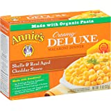 Annie's Macaroni and Cheese, Creamy Deluxe Shells & Real Aged Cheddar Sauce Mac and Cheese, 11 oz Box (Pack of 12)
