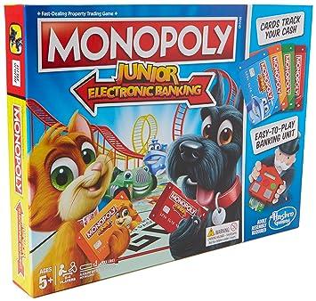Hasbro Monopoly Junior Electronic Banking Ninos Simulacion Economica
