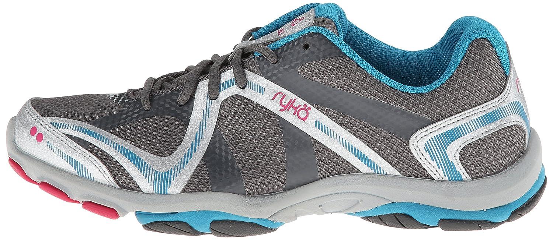 Ryka Women's Influence Cross Training Shoe B00L0BK0L2 6.5 W US|Steel Grey/Chrome Silver/Diver Blue/Zuma Pink