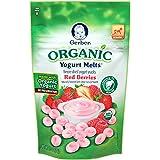 Gerber Organic Yogurt Melts Fruit Snacks, Red Berries, 1 Ounce