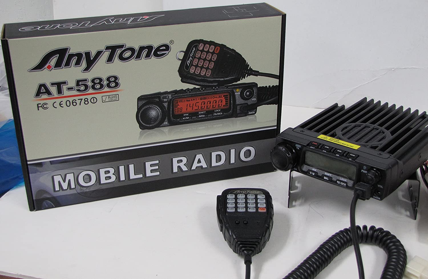 AnyTone at 588 220MHz 50W Mobile Radio with Scrambler