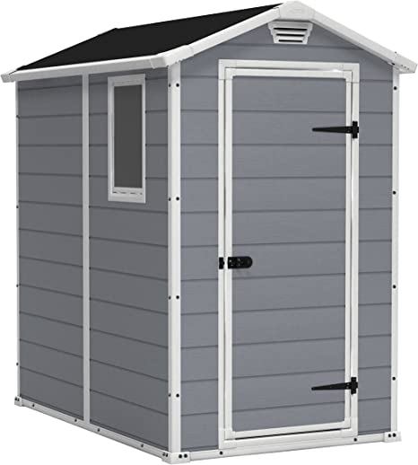 KETER Manor 4x6 Resin Outdoor Shed Kit – Best Budget Resin Storage Shed
