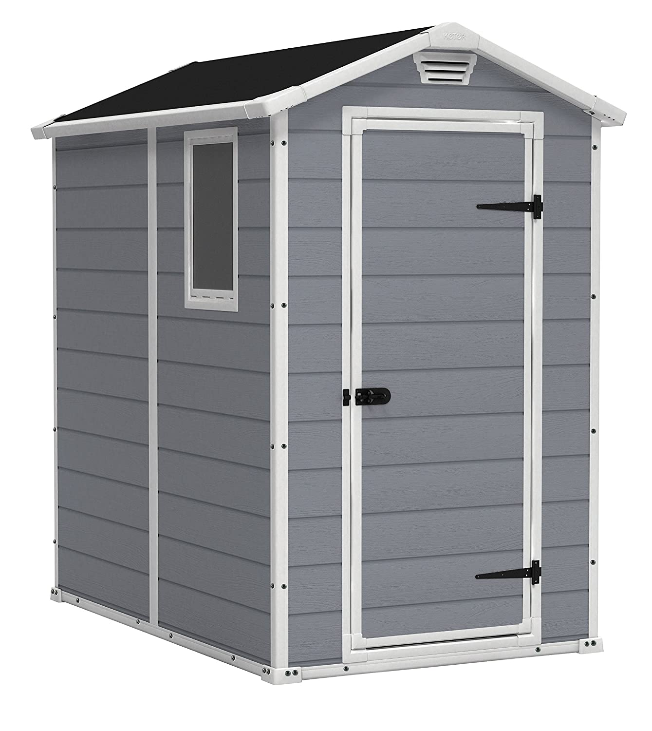 amazoncom keter manor large 4 x 6 ft resin outdoor backyard garden storage shed garden outdoor