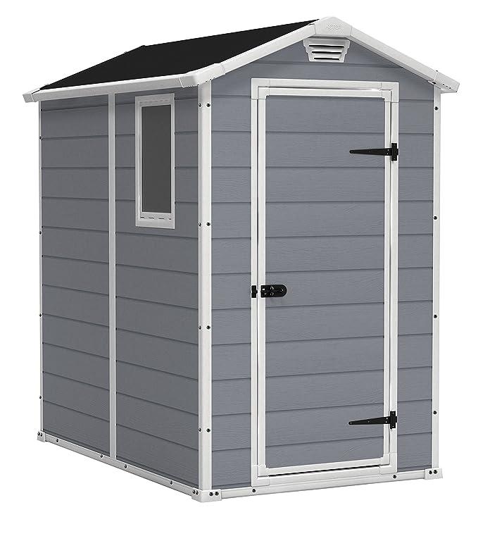 Amazon.com: Cobertizo de almacenamiento Keter Manor al aire ...