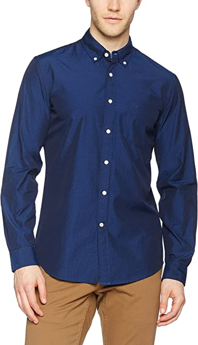 Dockers Camisa Hombre Essential Dobby Basil Medieval Blue ...